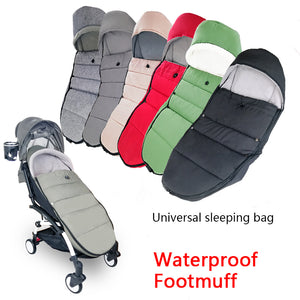 Universal Baby Carriage Winter Socks Sleep Bag Windproof