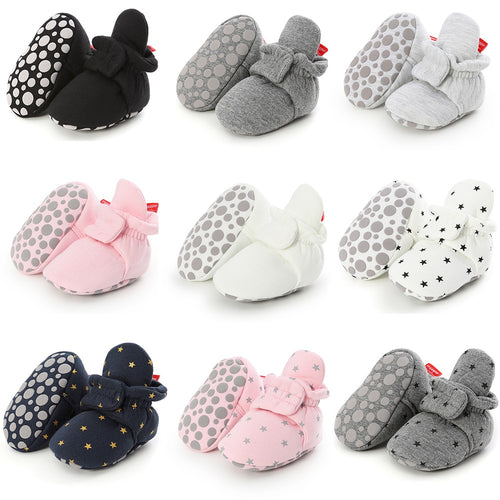 Newborn Baby Socks Shoes Boy Girl Star Toddler First Walkers
