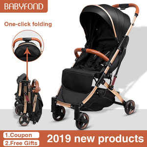 5.8 kg Light aluminium alloy stroller gold frame car Portable
