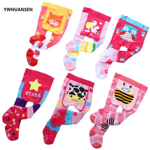 YWHUANSEN 0-12M Cotton Baby Girl's Tights Cute Animal Tights For Infant Girls