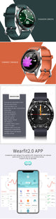Bakeey GT105 1.22inch Fashion UI Heart Rate Blood Pressure Monitor Weather Forcast Smart Watch – Orange
