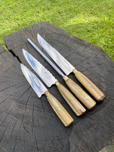 Load image into Gallery viewer, Set of 4 Knives - Emu Bone Kit SS430