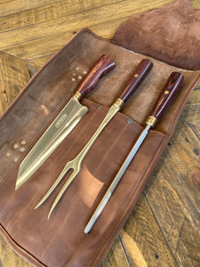 Full set of 7 Knives with free gift - Leather Bag Roll
