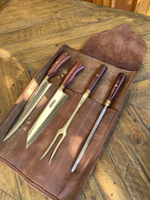 Load image into Gallery viewer, Full set of 7 Knives with free gift - Leather Bag Roll