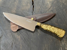 "Load image into Gallery viewer, 8"" Chef Knife Picanha SS430 - The Golden Boy"