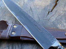 "Load image into Gallery viewer, 10"" Custom Resin Integral Chef Knife - Forged Carbon Steel 5160"
