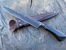 "Load image into Gallery viewer, 10"" Custom Resin Integral Chef Knife - Forged Carbon Steel 5160 02"