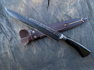 "10"" Custom Resin Integral Chef Knife - Forged Carbon Steel 5160 02"