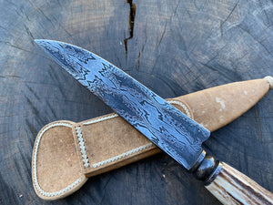 "6"" Damascus Mosaic Chef Knife with 600 layers of 15N20 and 1096 steels - 150mm"