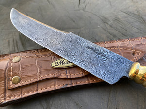 "7"" Damascus Mosaic Linear Chef Knife 120 Layers"