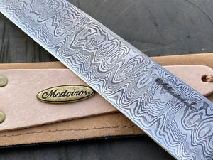 "11"" Damascus Mosaic Linear Chef Knife 120 Layers"