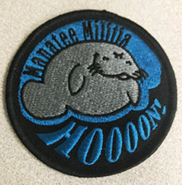 Manatee Militia Patch (No velcro)