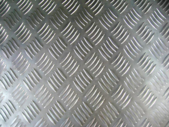 Alloy 3105 Aluminium Chequered Sheet 5-Bar Pattern 4'x8'x5.0mm