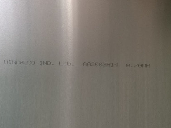 Alloy 3003 Aluminium Plain Sheet 4' x 8' x 4.0mm