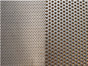 Stainless Steel Perforated Sheet 1.5mm Hole 2.5mm Pitch  4'x8'x0.7mm