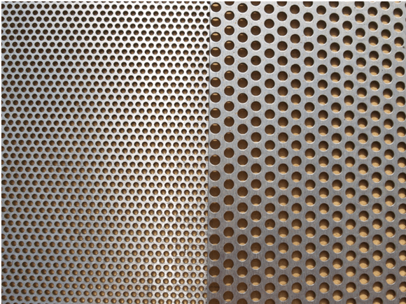 Stainless Steel Perforated Sheet 5mm Hole 8mm Pitch  4'x8'x1.2mm