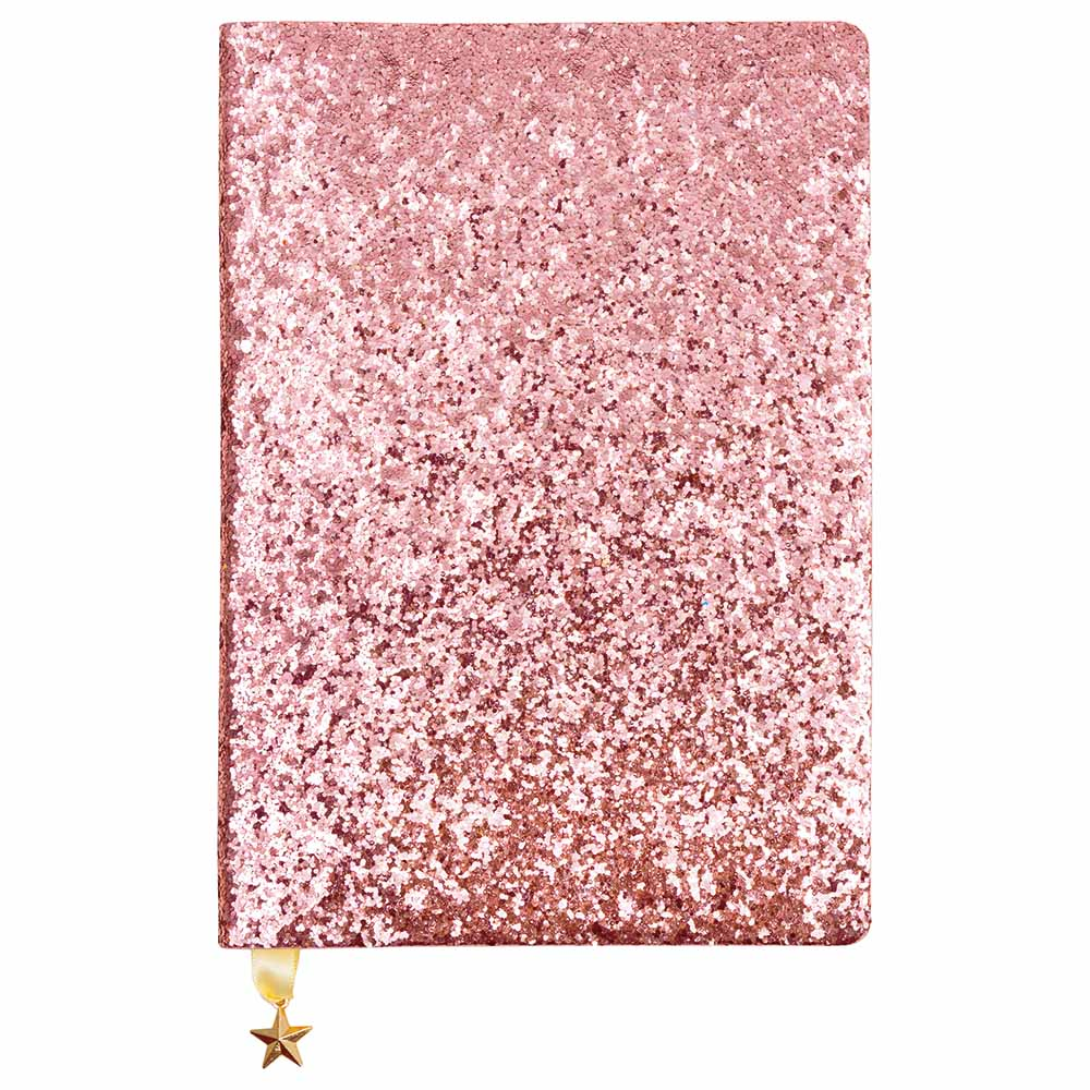 Rose Gold/Pink Sequin A5 Notebook
