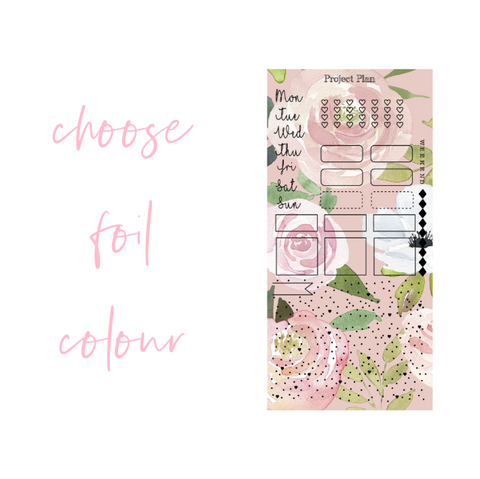 Foil Blush Pink Floral Hobonichi Weeks Kit