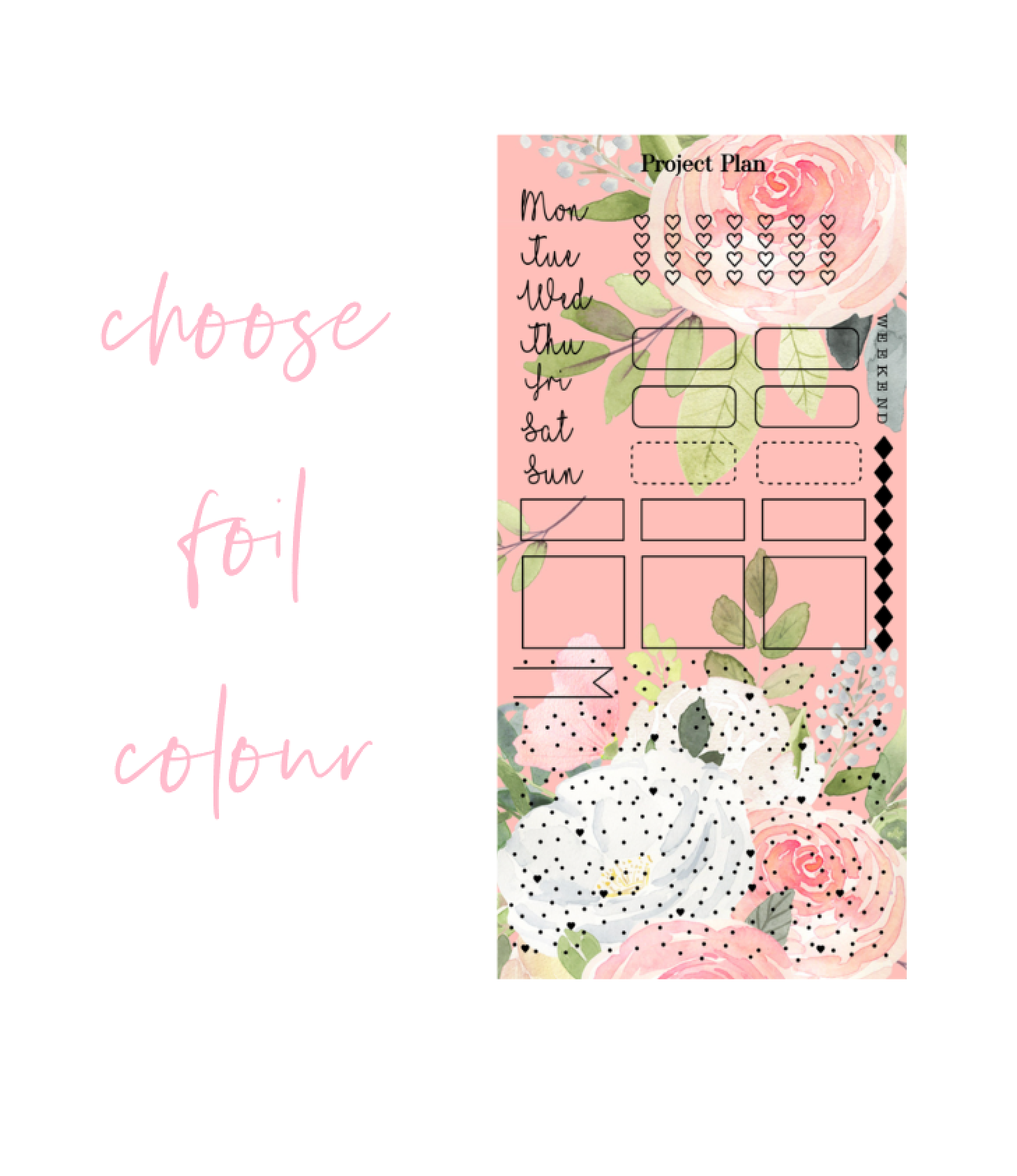 Foil Peach Hobonichi Weeks Kit