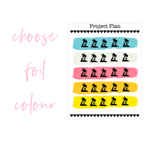 Summer Colourway Palm Tree Icon Planner Stickers