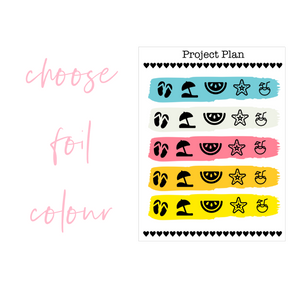 Summer Colourway Mixed Icon Planner Stickers