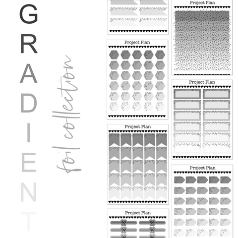 Greyscale Gradient Foil Collection