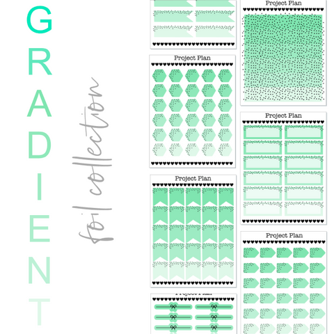 Sea Green Gradient Foil Collection