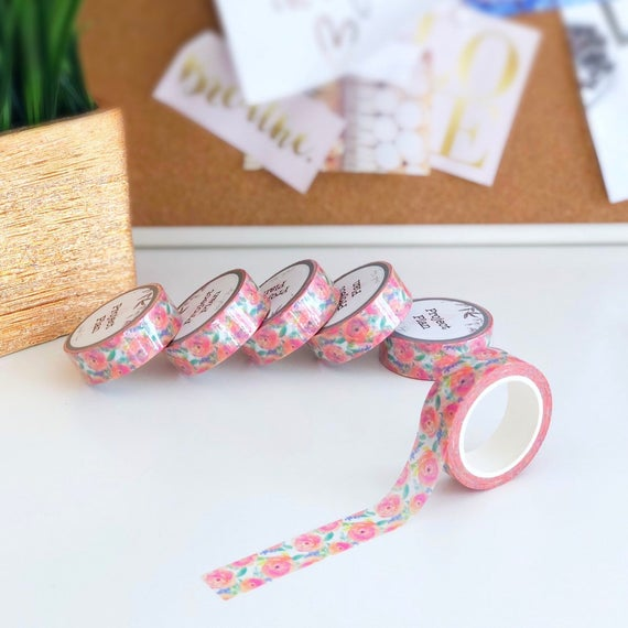 Floral Limited Edition Custom Washi Tape