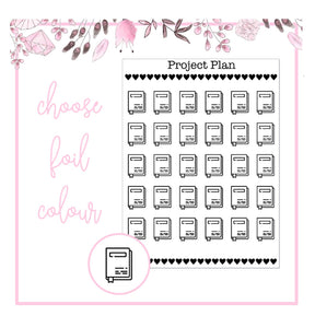 Foil Planner/Book Icon Planner Stickers