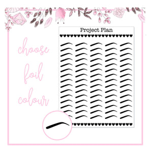 Foil Brows Icon Planner Stickers