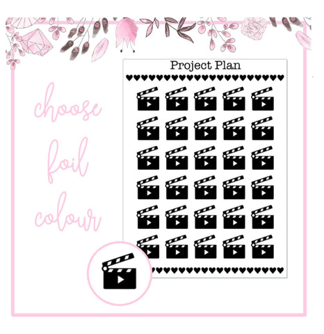 Foil Movie/Film Icon Planner Stickers
