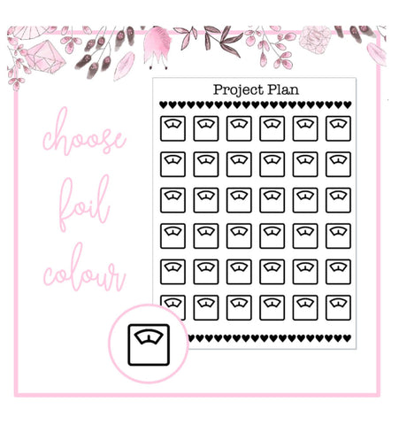 Foil Scales Icon Planner Stickers