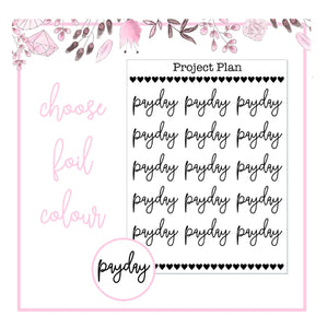 Foil Payday Script Planner Stickers