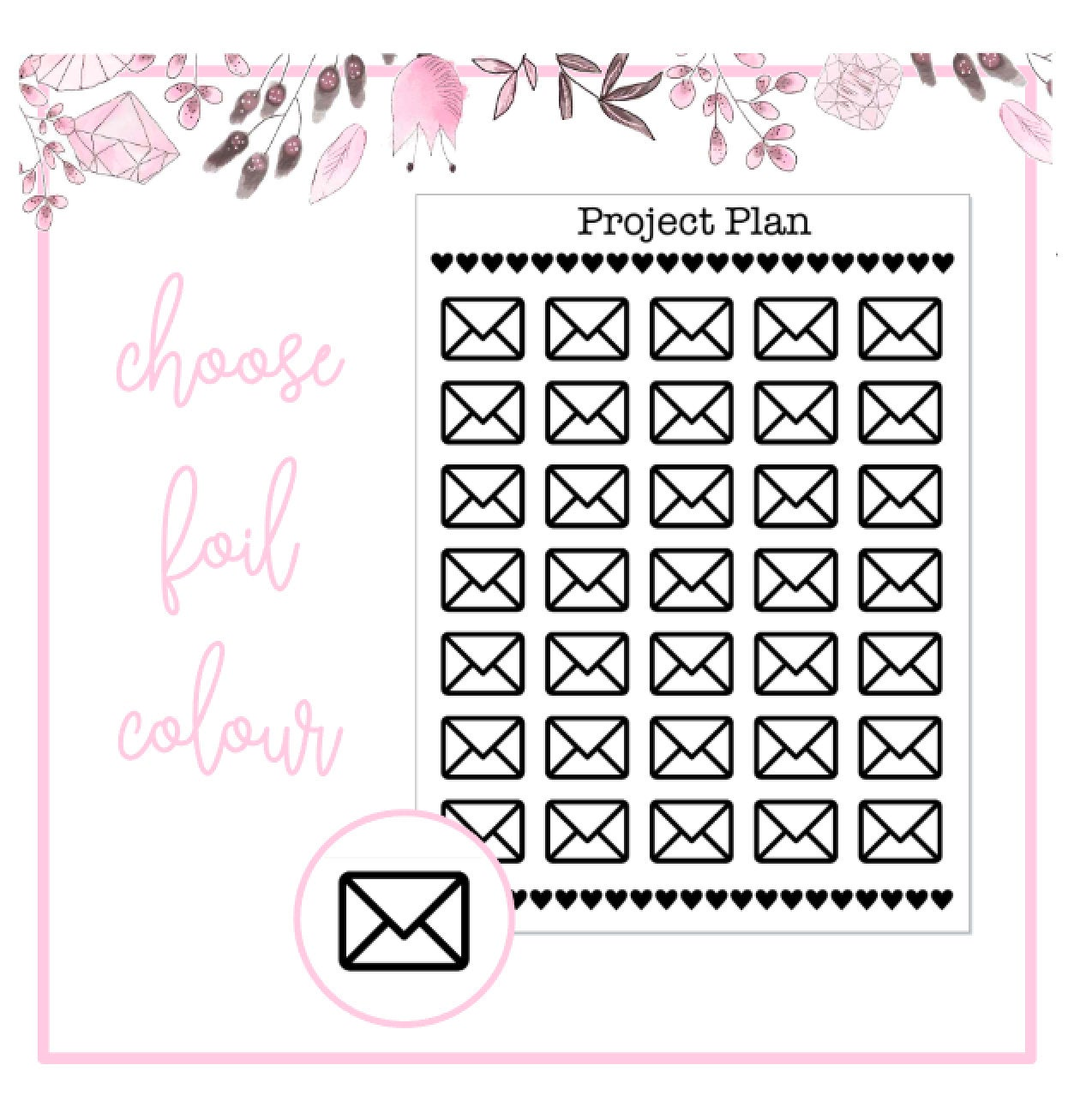 Foil Envelope/Happy Mail Icon Planner Stickers