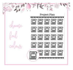 Foil English/Literacy Book Icon Planner Stickers