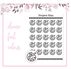 Foil Art/Paint Palette Icon Planner Stickers