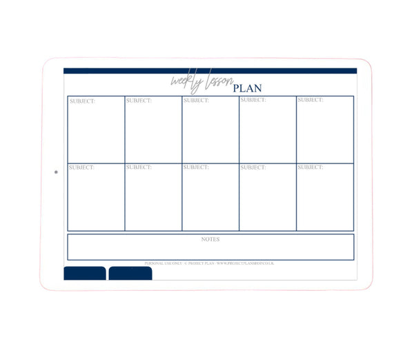 Homeschooling/Online Classes Digital Planner
