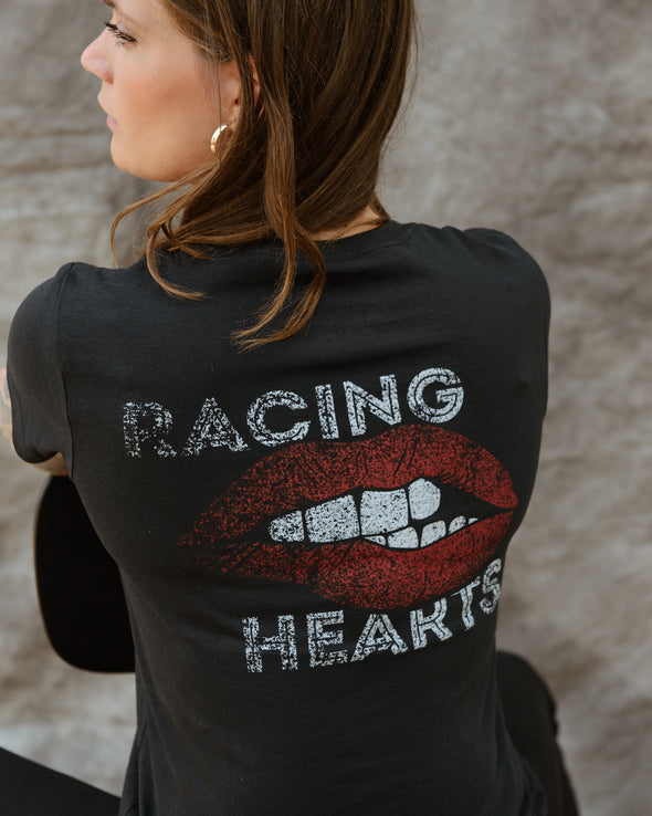 Racing Hearts Tee - Black