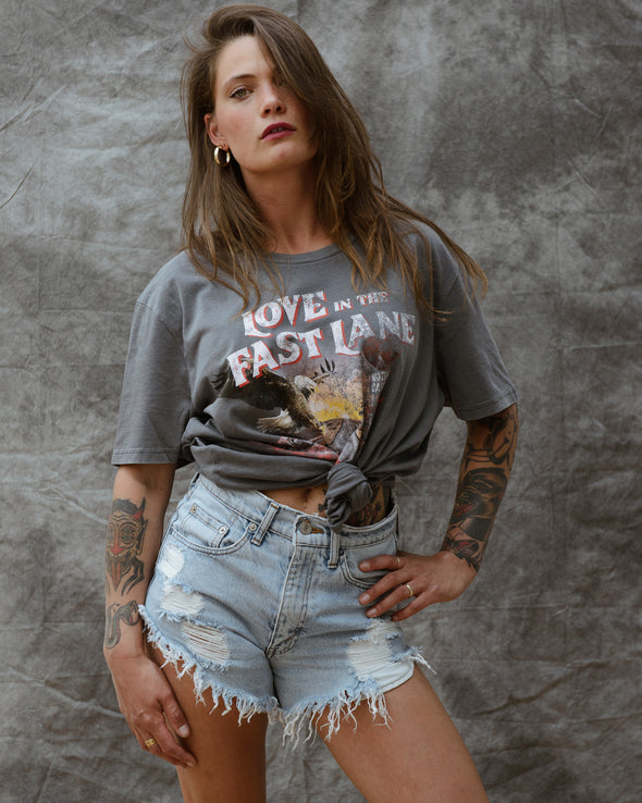 Vintage Love Tee - Washed Grey