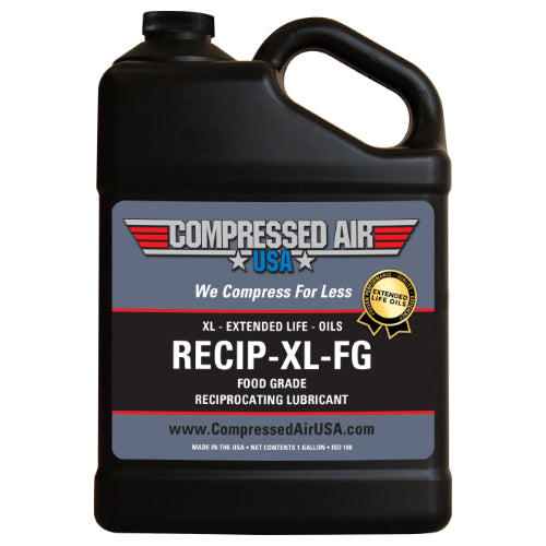 Food Grade 6000 Hour Reciprocating Air Compressor Oil (RECIP-XL-FG)