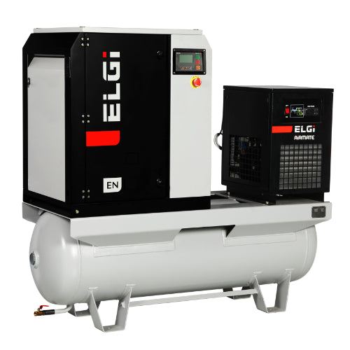 7.5HP ELGi Rotary Screw Air Compressor with Air Dryer 60gal (EN 05)