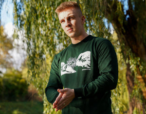 "Bottle Green ""Reach Out"" Sweatshirt"