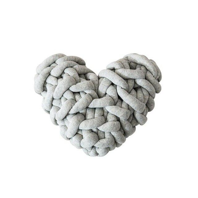 Cassidy Knot Heart Pillow