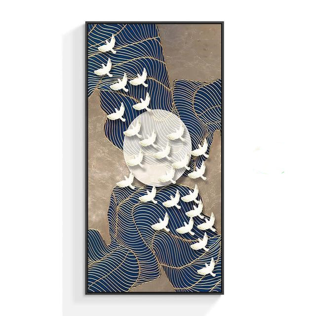 Birds on a Falling Moon