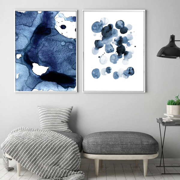 Epiphany Blue Water Color Prints