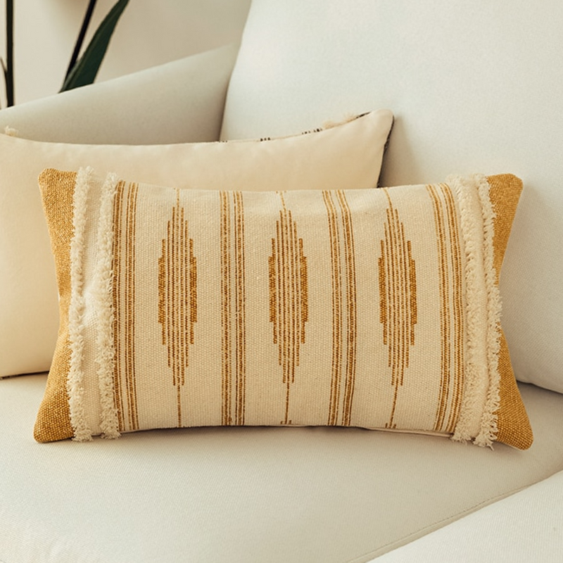 Boho Striped Pillow Cover