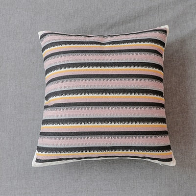 Toci Pink and Gray Pillow Covers