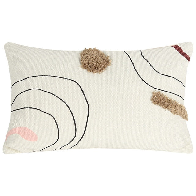 Epsilon Abstract Embroidered Pillow Cover