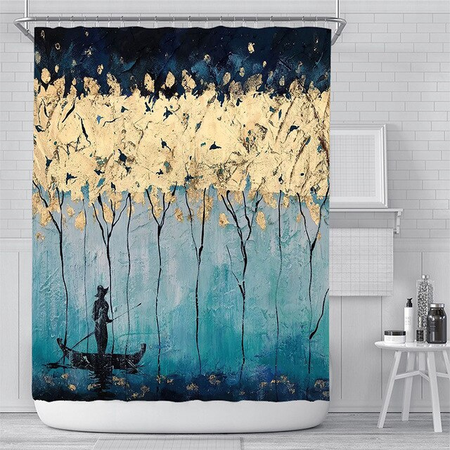 Maua Floral Shower Curtains