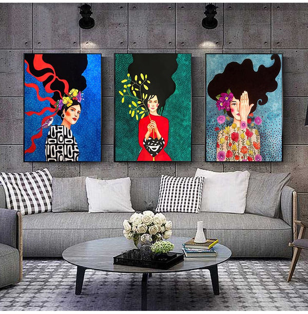 Woman in Bold Canvas Print